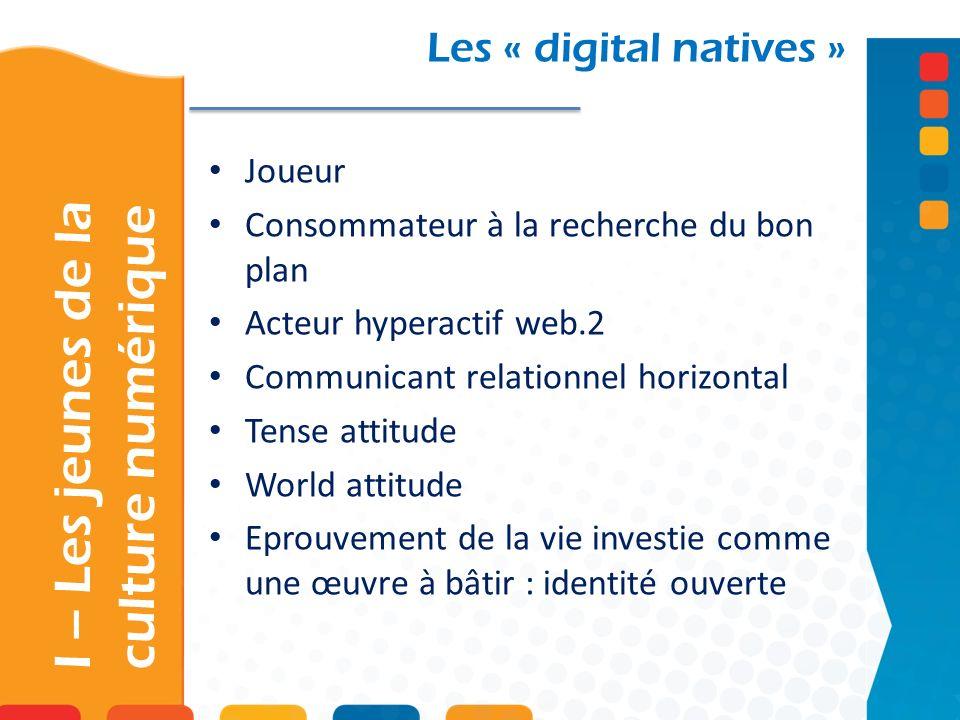 I – Les jeunes de la culture numérique