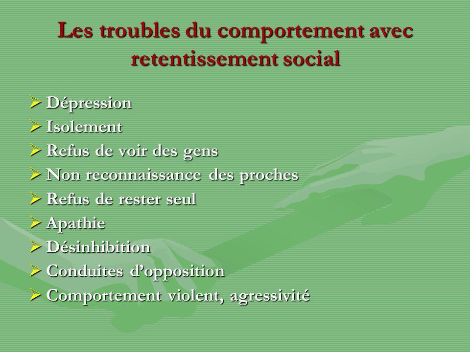 Les troubles du comportement avec retentissement social