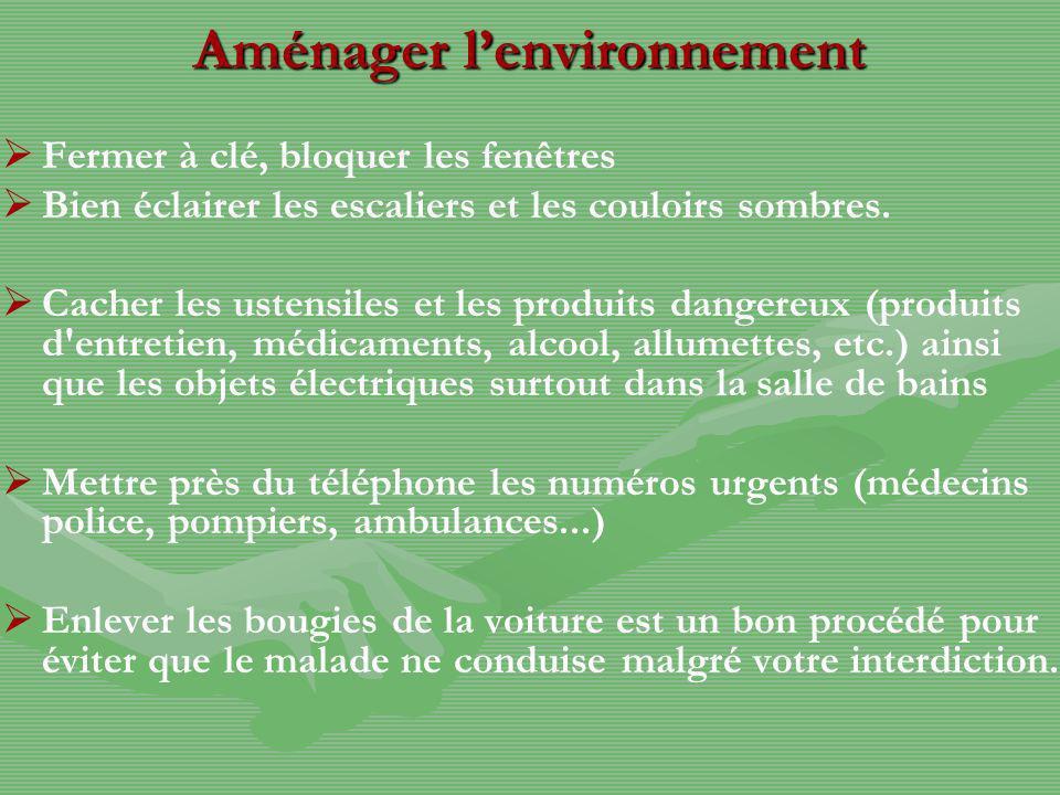 Aménager l'environnement