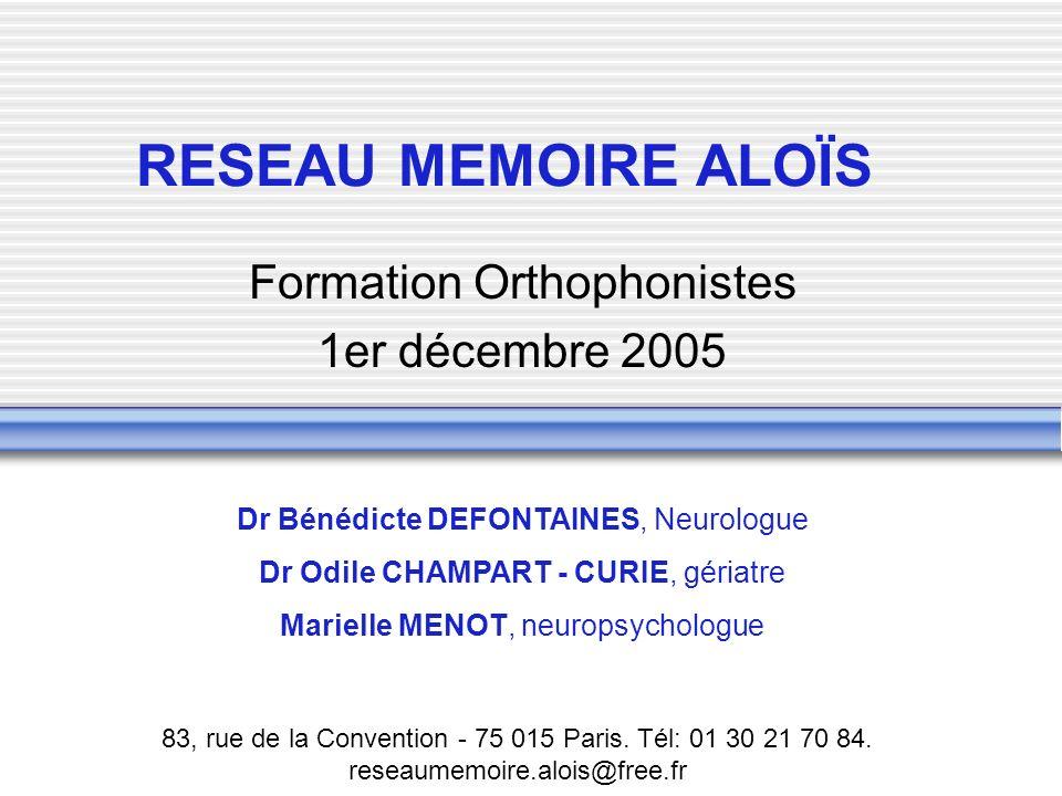 Formation Orthophonistes 1er décembre 2005