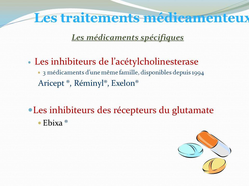 Les traitements médicamenteux Les médicaments spécifiques