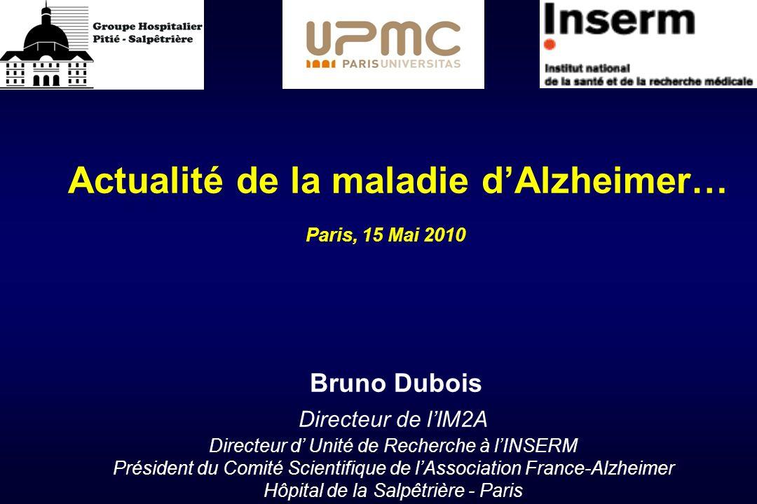 Actualité de la maladie d'Alzheimer…