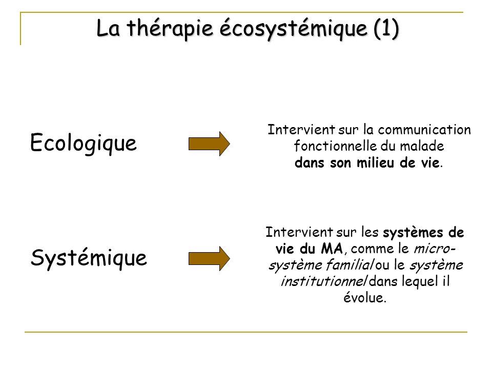 La thérapie écosystémique (1)