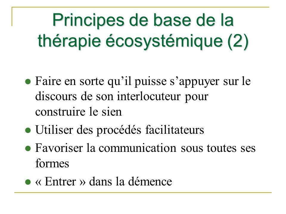 Principes de base de la thérapie écosystémique (2)