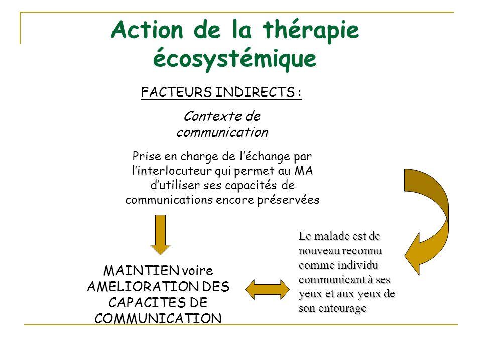 Action de la thérapie écosystémique