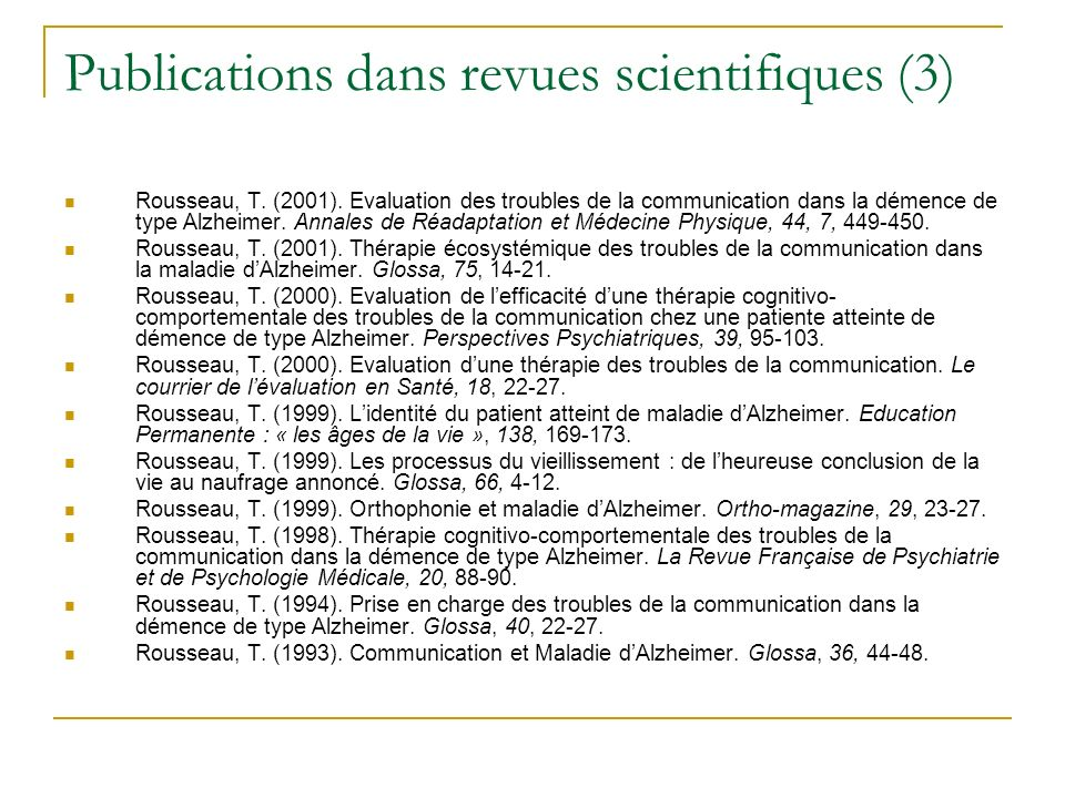Publications dans revues scientifiques (3)