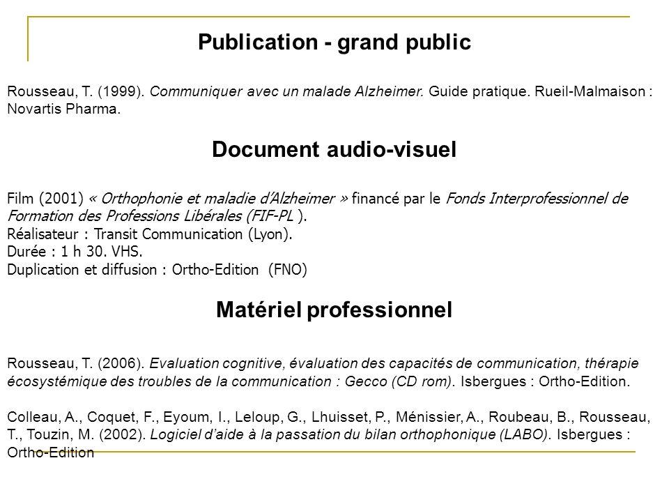Publication - grand public