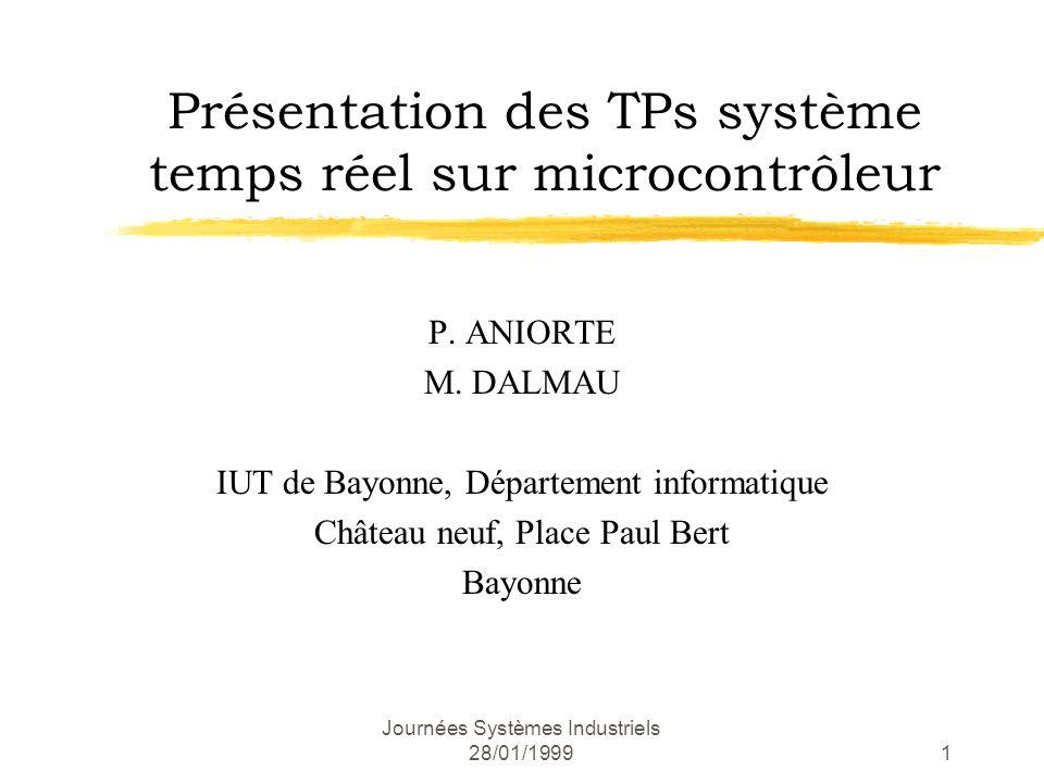 Présentation des TPs système temps réel sur microcontrôleur