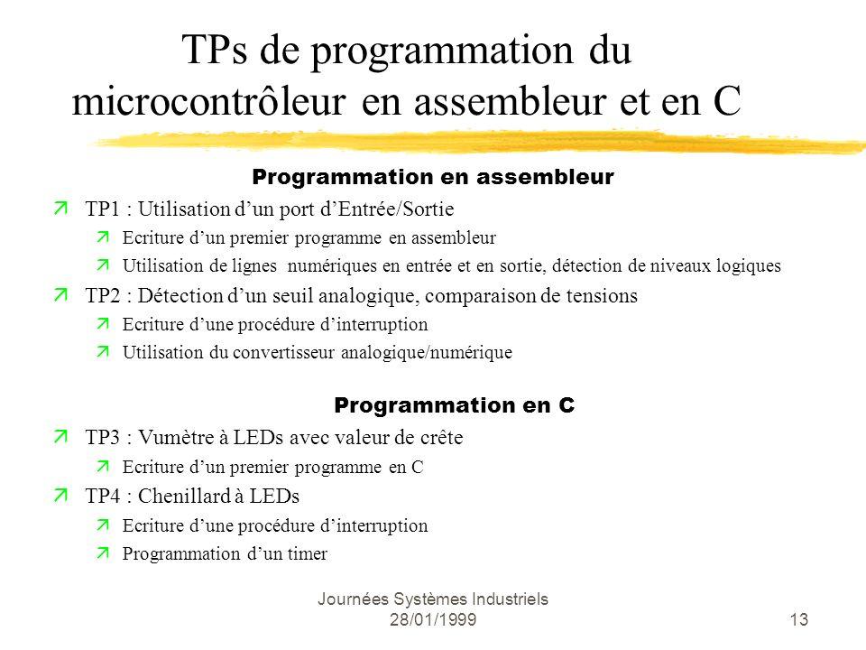 TPs de programmation du microcontrôleur en assembleur et en C
