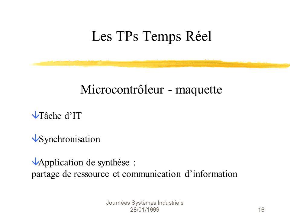Microcontrôleur - maquette