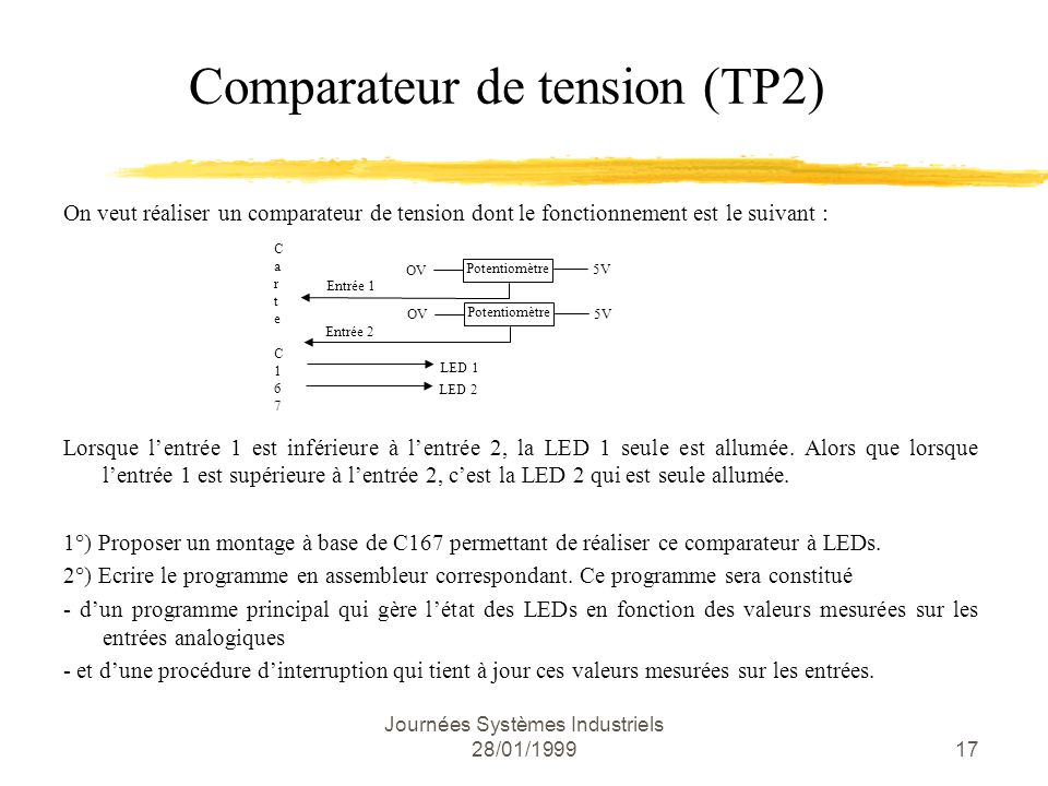 Comparateur de tension (TP2)