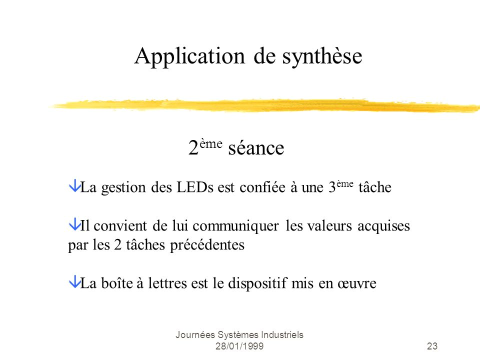 Application de synthèse