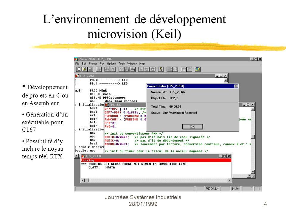 L'environnement de développement microvision (Keil)