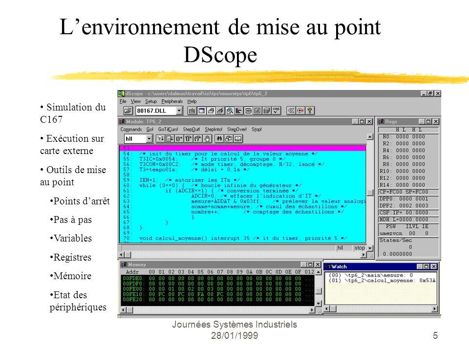 L'environnement de mise au point DScope