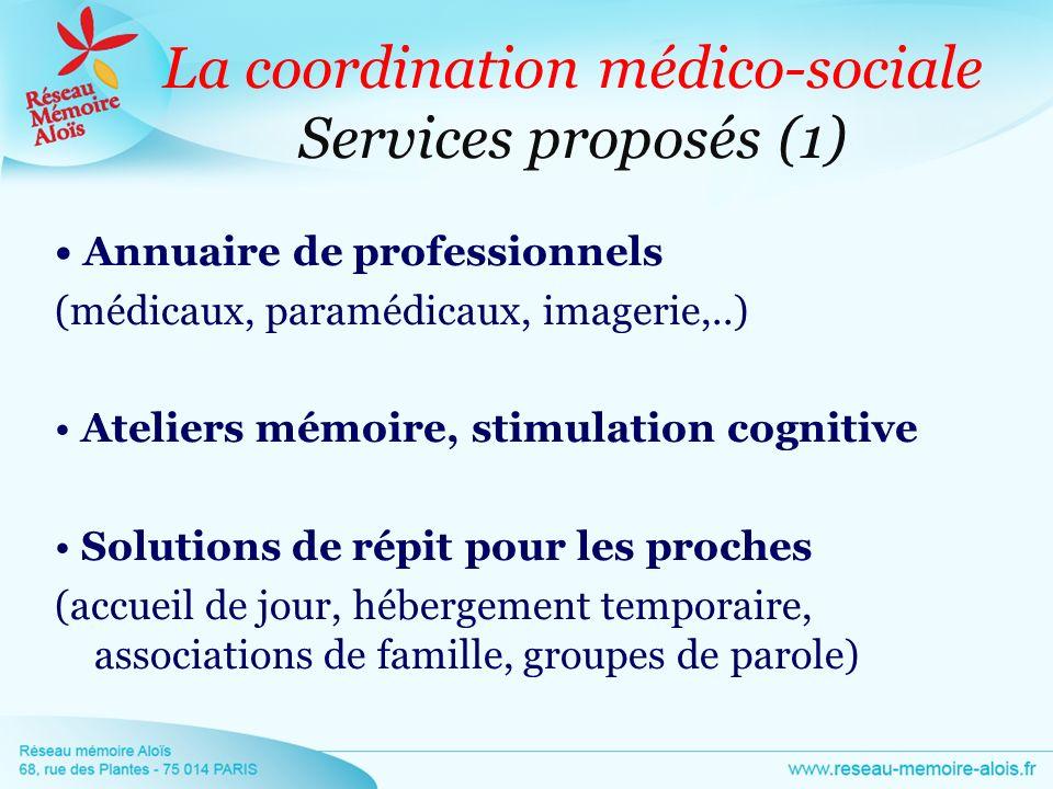 La coordination médico-sociale Services proposés (1)