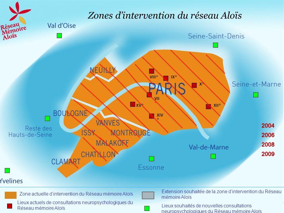 Zones d'intervention du réseau Aloïs