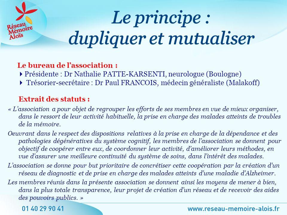 Le principe : dupliquer et mutualiser