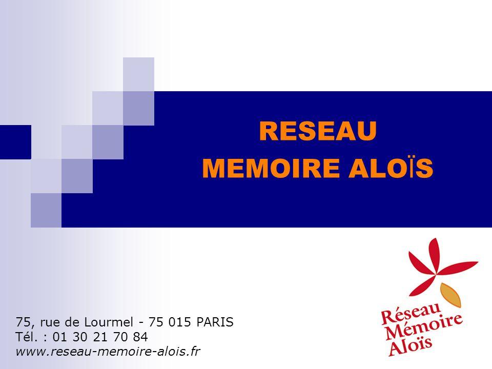 RESEAU MEMOIRE ALOÏS 75, rue de Lourmel - 75 015 PARIS