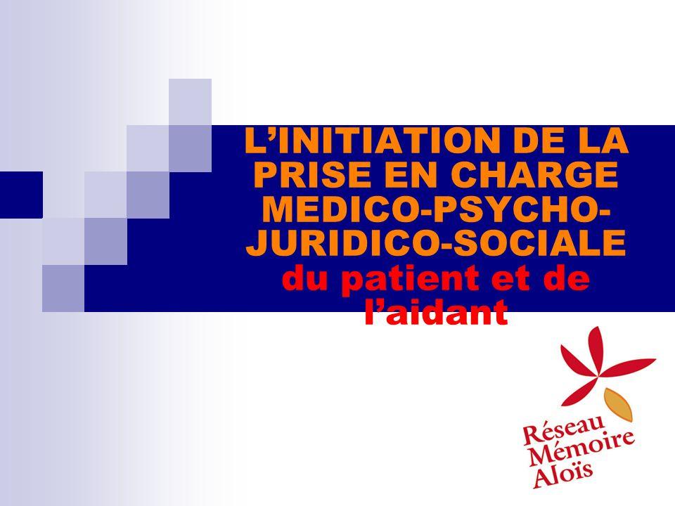 L'INITIATION DE LA PRISE EN CHARGE MEDICO-PSYCHO-JURIDICO-SOCIALE du patient et de l'aidant