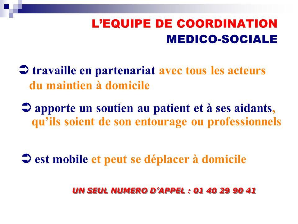L'EQUIPE DE COORDINATION MEDICO-SOCIALE