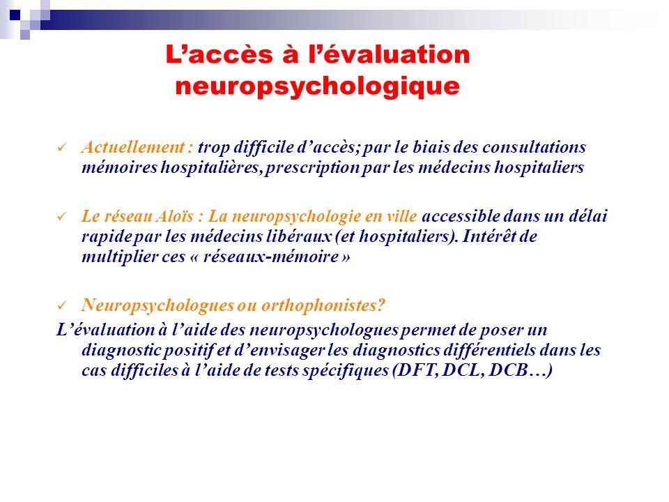 L'accès à l'évaluation neuropsychologique