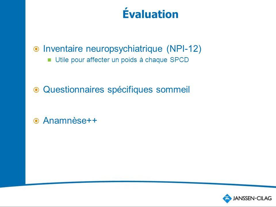 Évaluation Inventaire neuropsychiatrique (NPI-12)