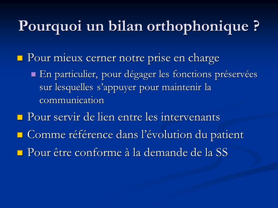 Pourquoi un bilan orthophonique