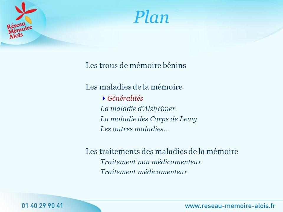 Plan Les trous de mémoire bénins Les maladies de la mémoire