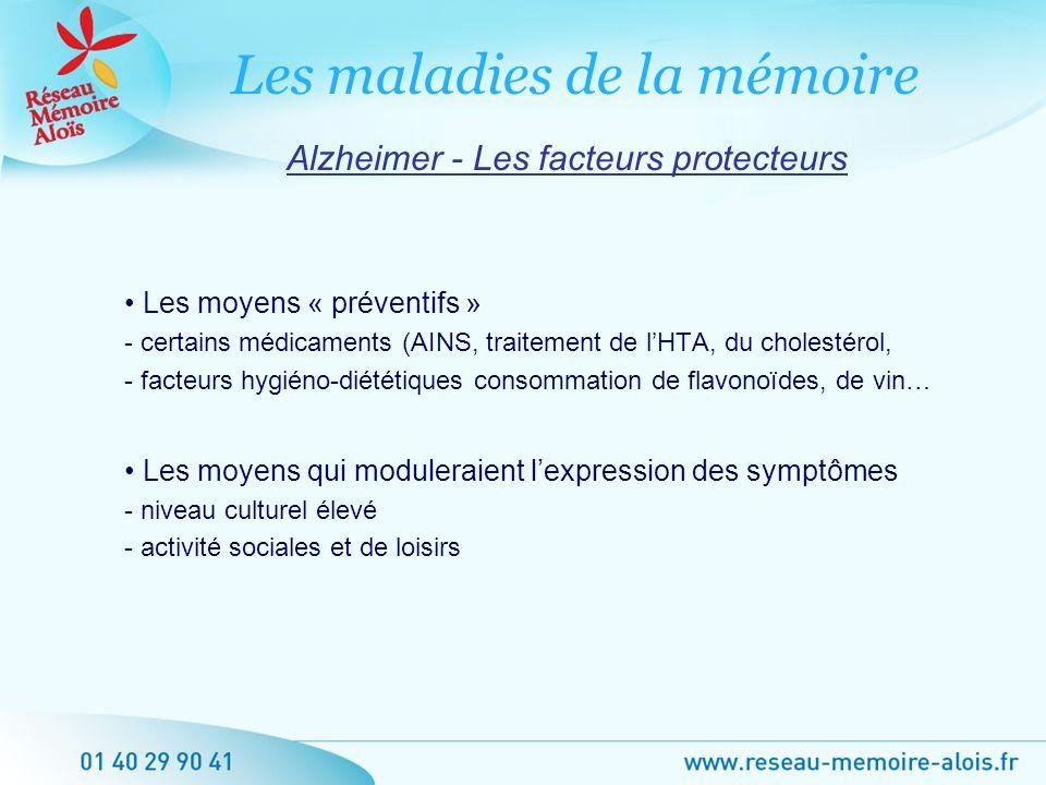 Alzheimer - Les facteurs protecteurs
