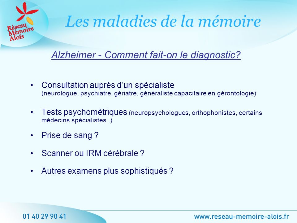Alzheimer - Comment fait-on le diagnostic
