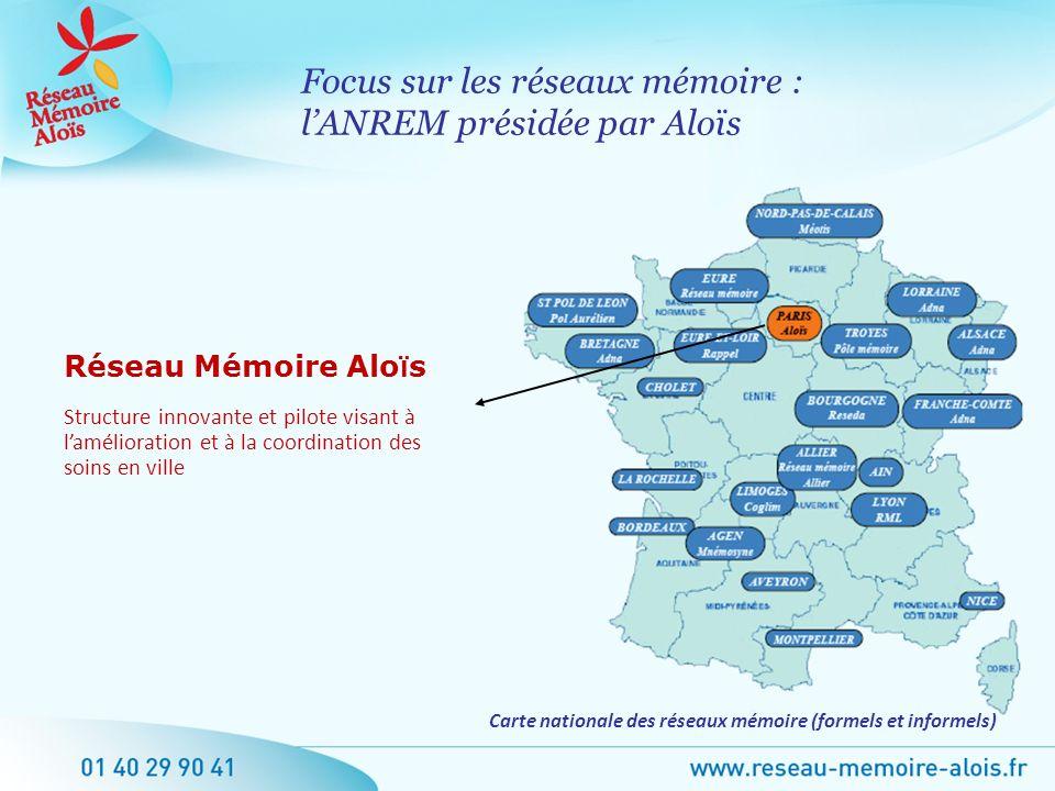 Carte nationale des réseaux mémoire (formels et informels)