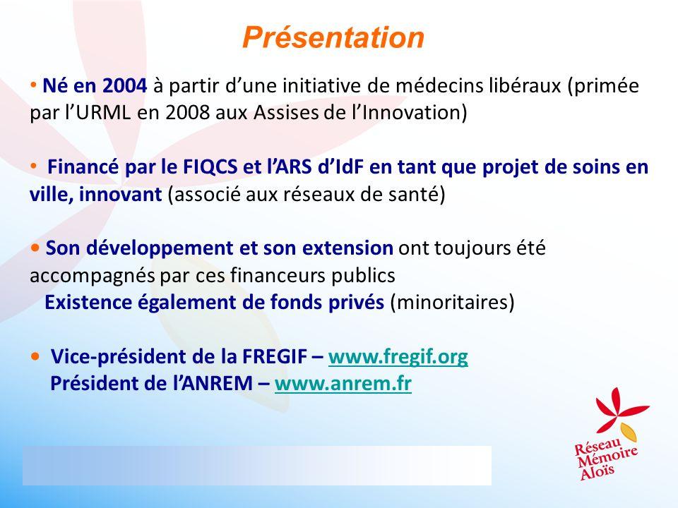 Présentation Né en 2004 à partir d'une initiative de médecins libéraux (primée par l'URML en 2008 aux Assises de l'Innovation)