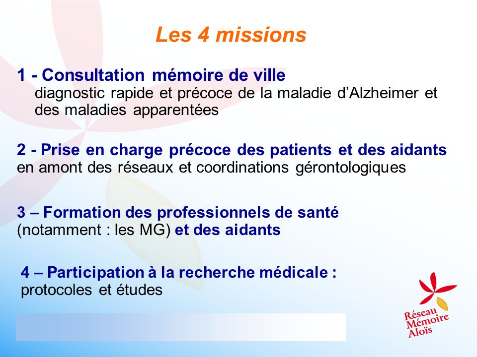 Les 4 missions