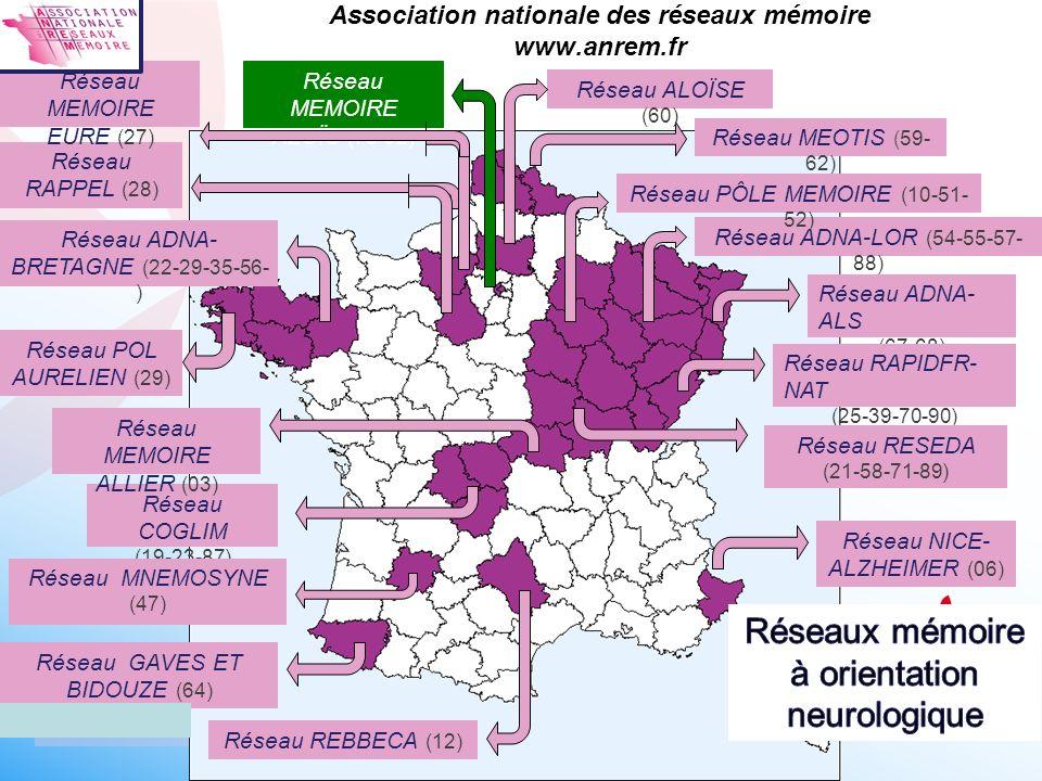 Association nationale des réseaux mémoire www.anrem.fr