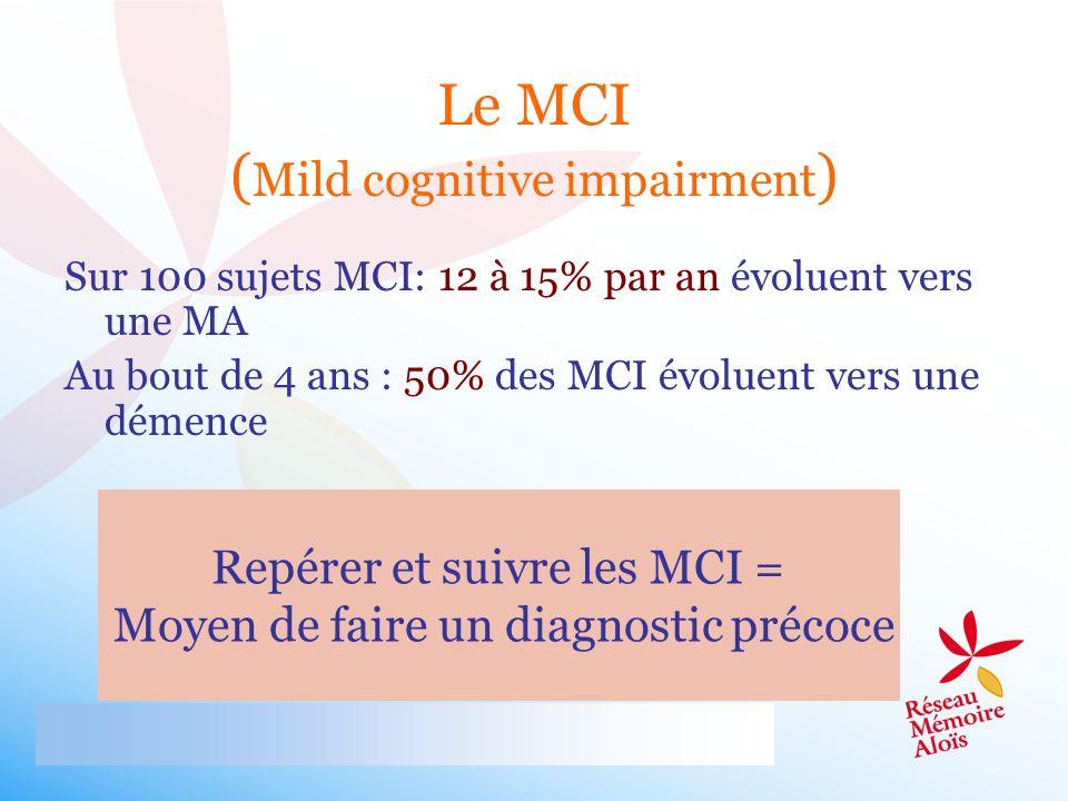 Le MCI (Mild cognitive impairment)