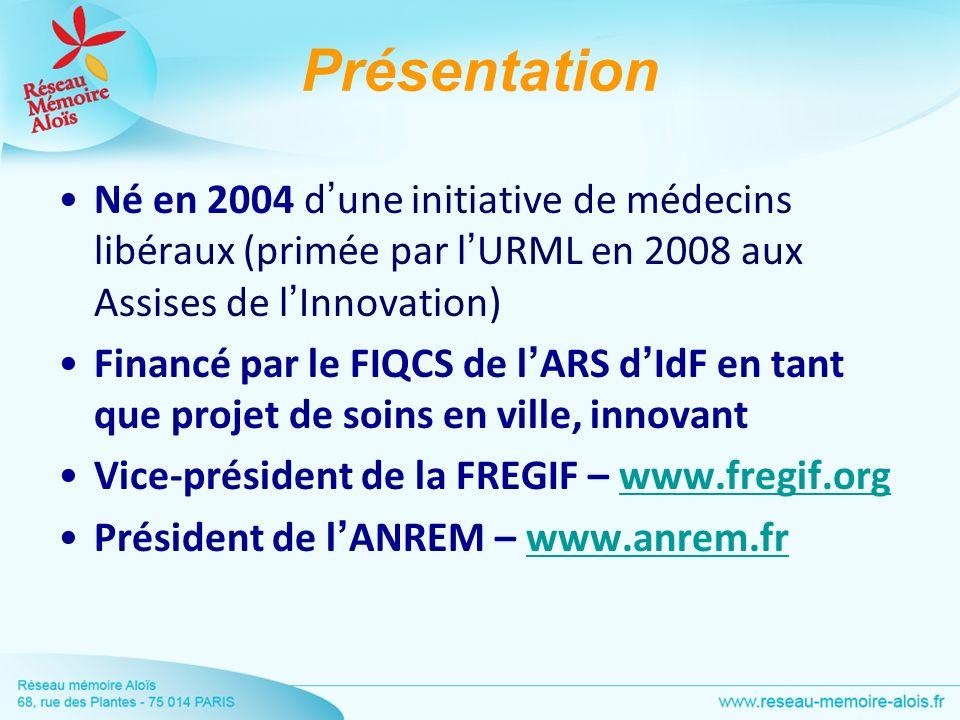 PrésentationNé en 2004 d'une initiative de médecins libéraux (primée par l'URML en 2008 aux Assises de l'Innovation)