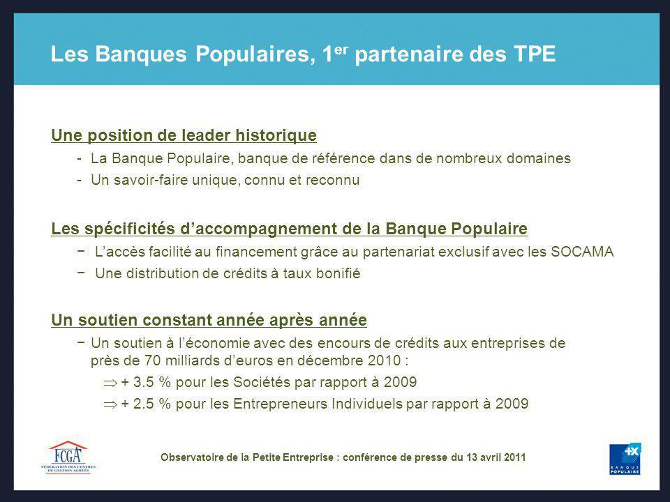 Les Banques Populaires, 1er partenaire des TPE