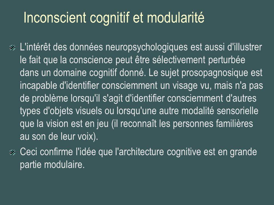 Inconscient cognitif et modularité