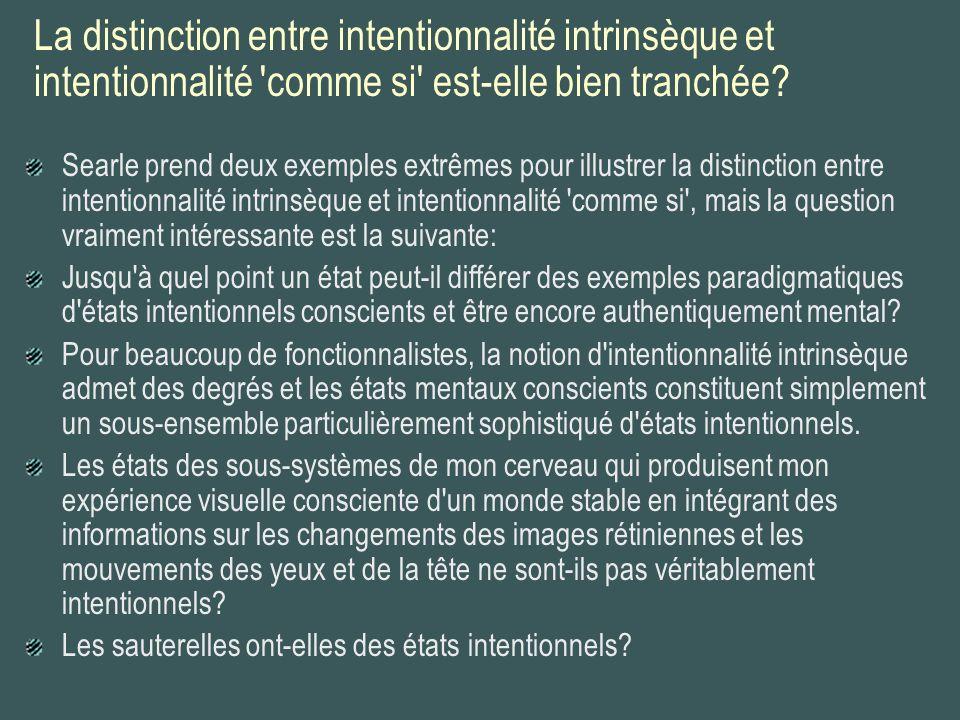 La distinction entre intentionnalité intrinsèque et intentionnalité comme si est-elle bien tranchée