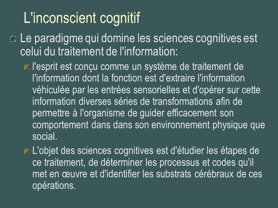 L inconscient cognitif