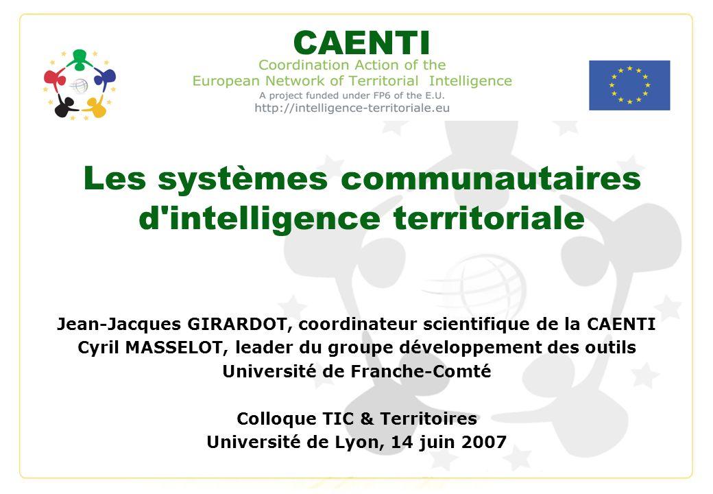 Les systèmes communautaires d intelligence territoriale