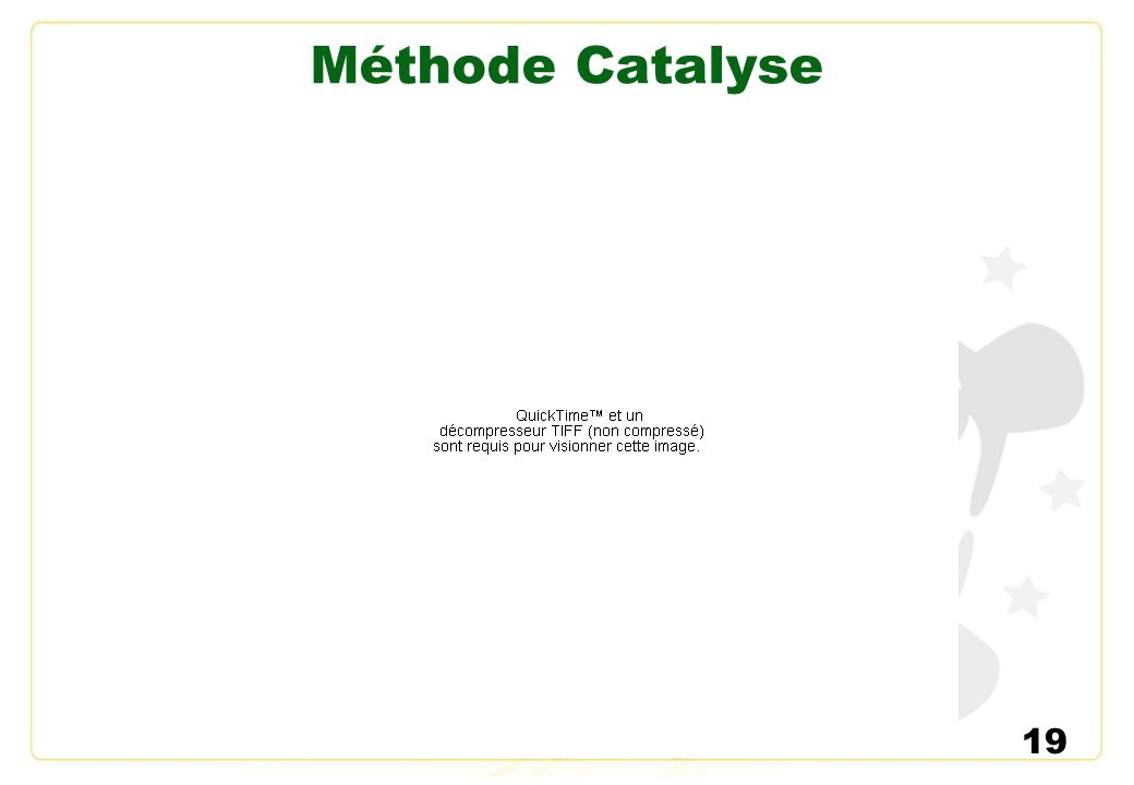 Méthode Catalyse