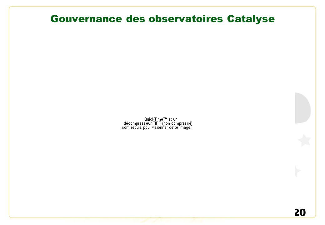 Gouvernance des observatoires Catalyse