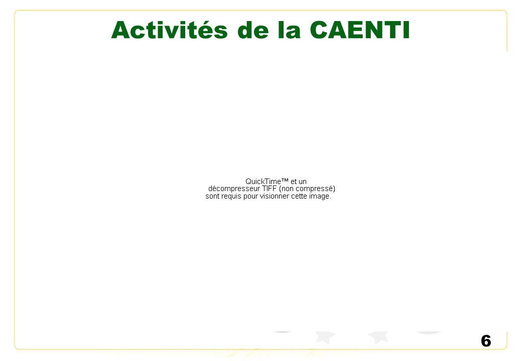 Activités de la CAENTI