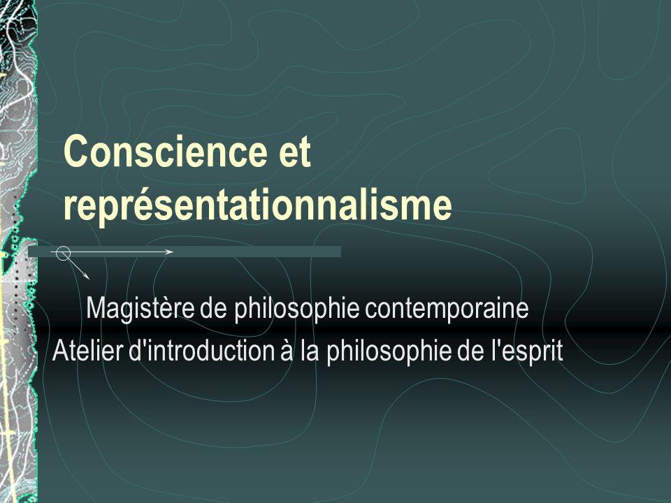 Conscience et représentationnalisme