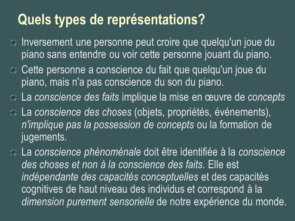 Quels types de représentations