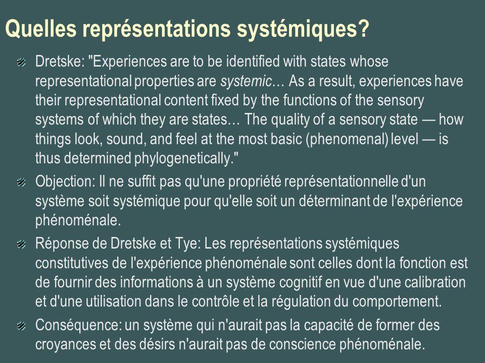 Quelles représentations systémiques