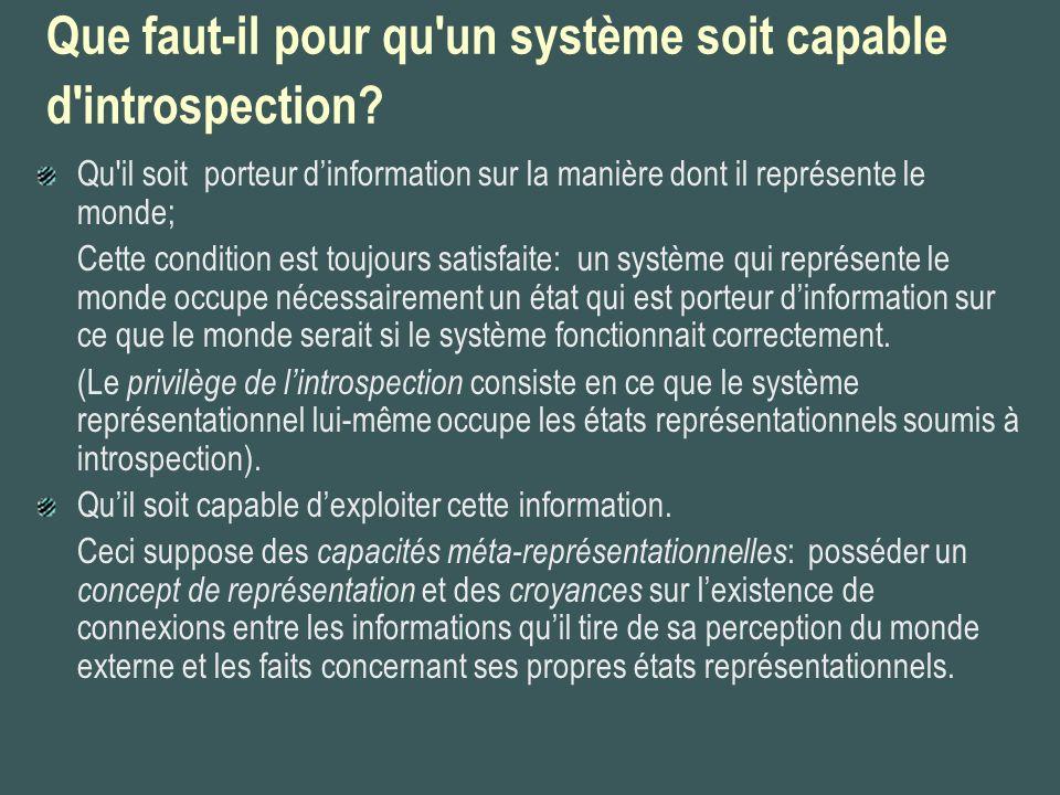 Que faut-il pour qu un système soit capable d introspection