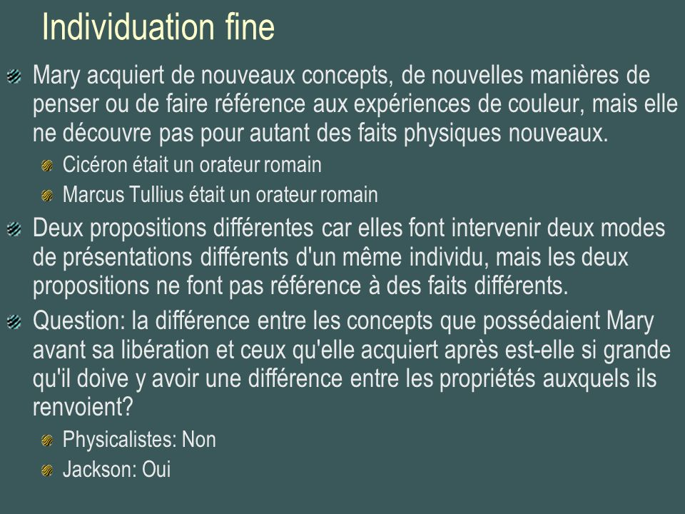 Individuation fine