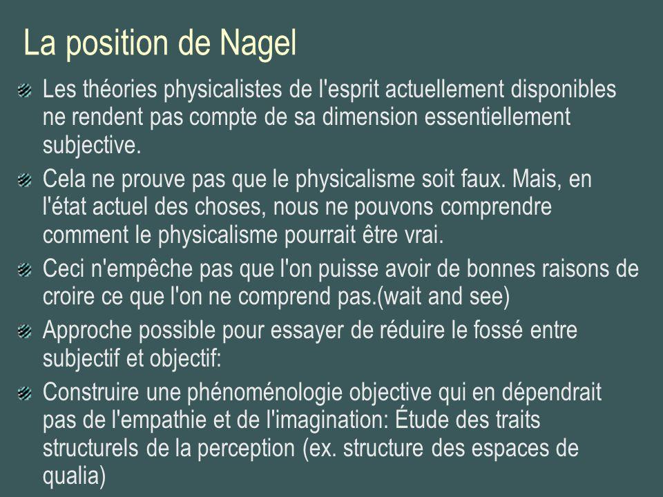 La position de Nagel